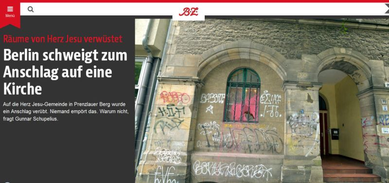 Kirchenschaendung in Deutschland, Antifa will kirchen brennen sehen